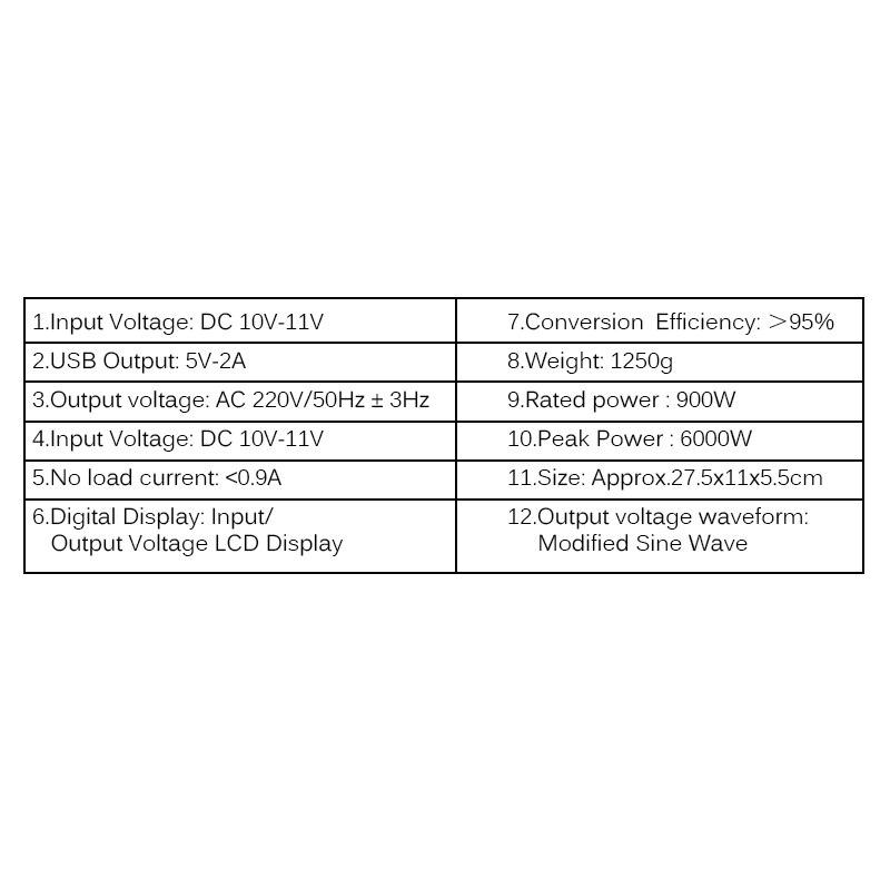 Car Inverter 12V 220V 6000W Peak Power Inverter Voltage Converter Transformer 12V/24V To 110V/220V Inversor + LCD Display enlarge