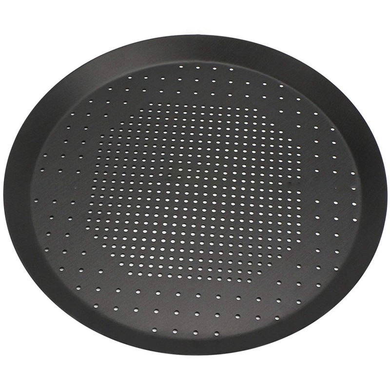 Легко-форма для выпечки пиццы, антипригарная форма для пиццы с отверстиями, стальной круглый поднос для печи пиццы с хрустящей корочкой, пер...