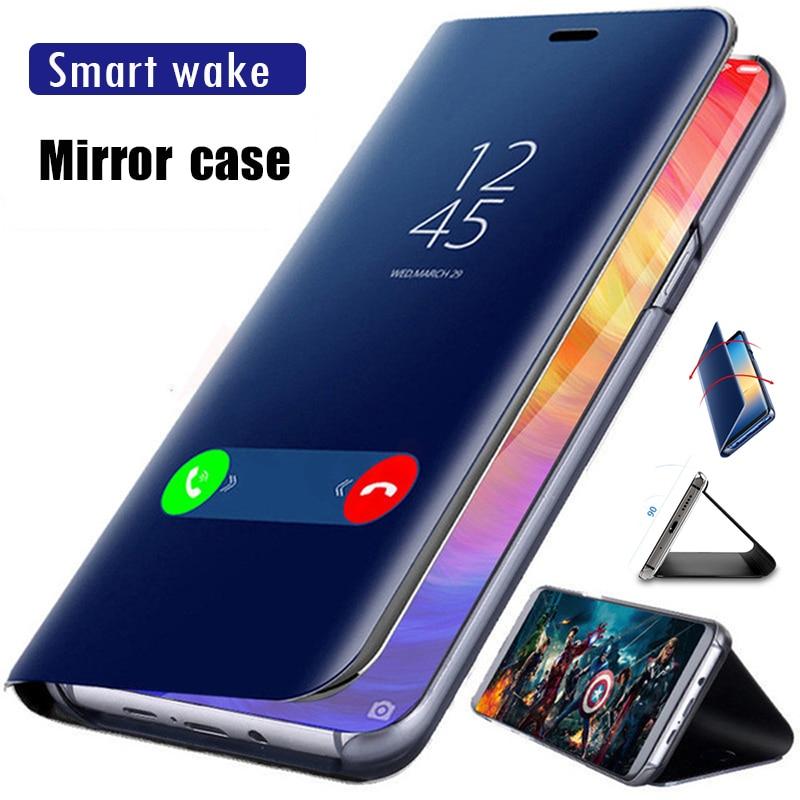 Mi rror Flip caso para Xiaomi mi 9T 9 SE 8 Lite Pro 5X 5C 6 6X caso mi A1 A3 A2 Lite CC9 CC9E teléfono móvil F1 mi x 3 Max 3 cubierta de los casos