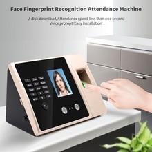 FA02 reconocimiento facial Cámara Dual Tarjeta de huella digital Control de acceso de asistencia máquina integrada sistema de Control de acceso (enchufe de la UE)