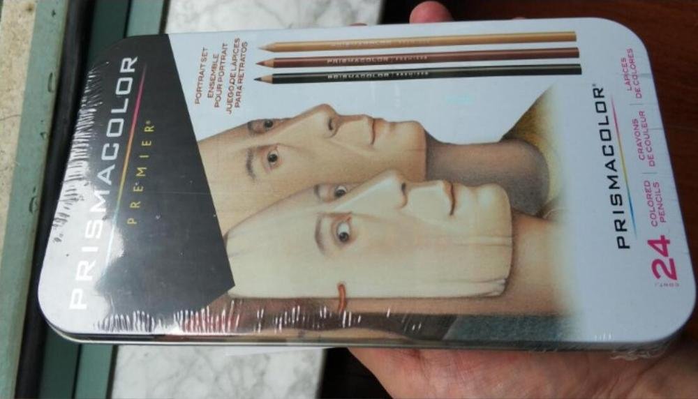 1 24 carácter boceto color lápiz sanford prismacolor lapislázuli de CDR, dibujo a lápiz piel retrato a lápiz pintura lápiz