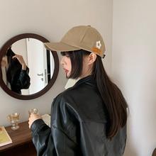 Women's Ins Fashion Brand 2021 New Embroidered Labeling Hat Casual Baseball Cap Korean Summer Sun Ha