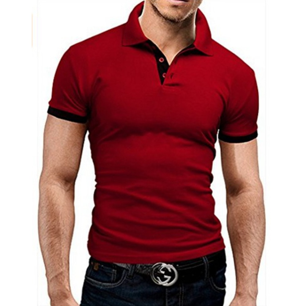 Covrlge Polo Shirt Men Summer Stritching Men's Shorts Sleeve Polo Business Clothes Luxury Men Tee Shirt Brand Polos MTP129