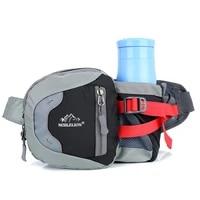 nylon waist bag sports bags durable large capacity hardwearing breathable kettle bag for men women outdoor sports multifunction