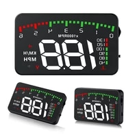 a900 hud head up display car styling overspeed warning windshield projector alarm system universal auto electronic voltage alarm
