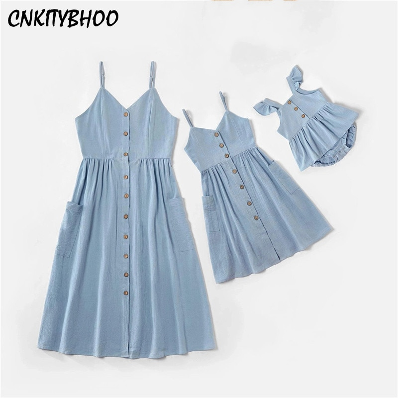 Платье на бретелях для мамы и дочки, одинаковое платье для мамы, девочки, мамы и дочки, одежда для мамы и ребенка, платья на бретелях, семейная...