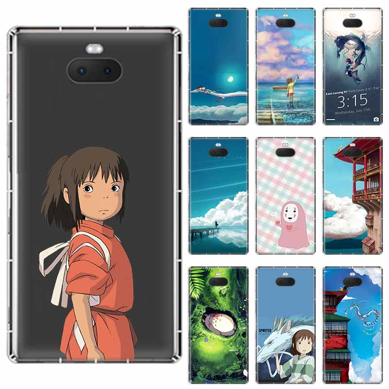 Studio Ghibli anime en espíritu anime suave TPU caso para Sony Xperia XA XA1 XA2 XA3 XZ XZ1 XZ2 XZ3 XZ4 L1 L2 L3 más Compeact