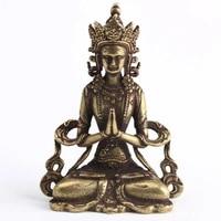 mini solid copper buddha statue ornament miniature figurines home office deco home decor %e2%80%8baccessory hot
