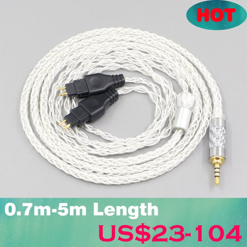 LN006543 3,5mm 2,5mm XLR 4,4mm 8 Core chapados en plata OCC Cable...