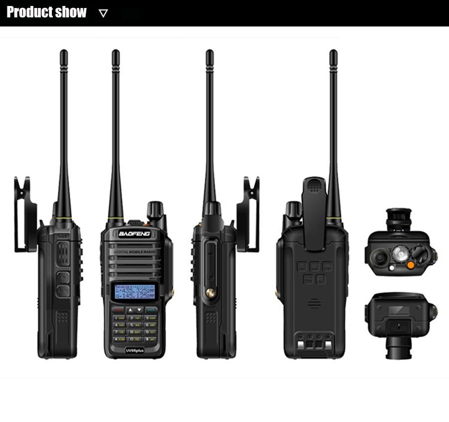 baofeng uv9r plus walkie-talkie for hunting 50km 40km 100km car radio comunicador ham hf scanner radio vhf uhf police marine sdr enlarge