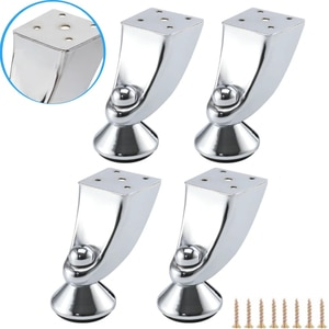 1/4PCS Modern Style Furniture Legs With Screws Thicken Metal Feet Legs For Sofa Cabinet Wardrobe Beds TV Stands Coffee Tea Table