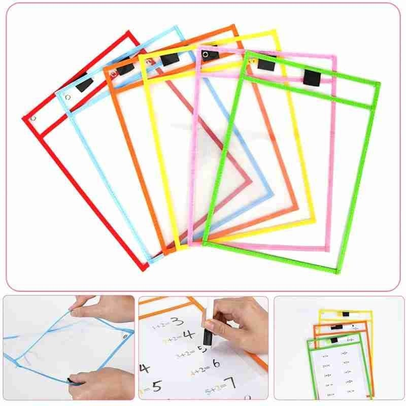 Transparent Dry Brush Bag set Kids Drawing Board DIY Painting Doodle Coloring Learning Educational T