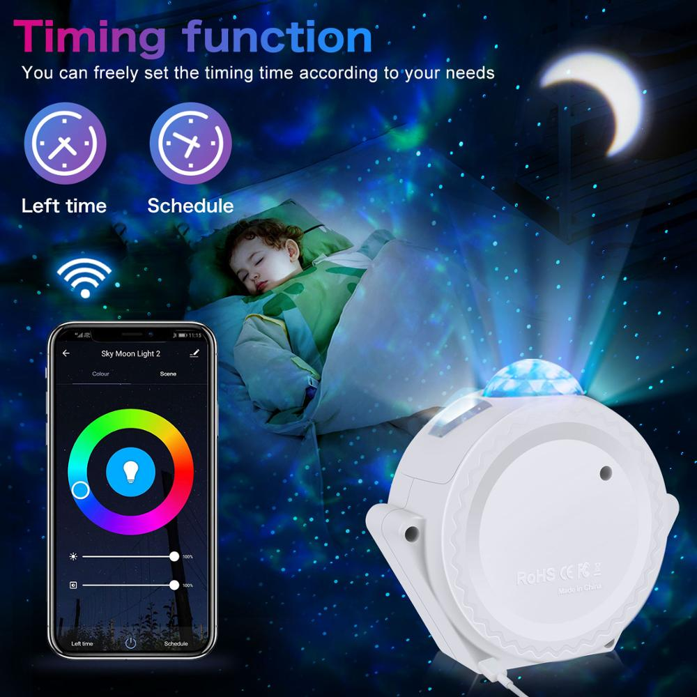 Wifi Led Night Light Starlight Projector LED Cloud Night Lights Multicolor Ocean Waving Lights Night Lamp enlarge