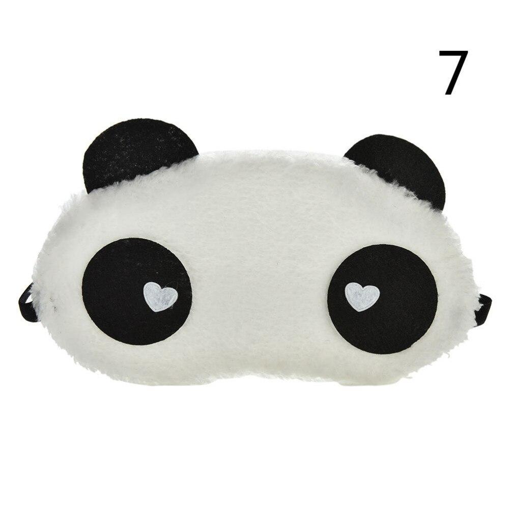 Mask For Sleep Cute Panda Sleeping Face Eye Blindfold Eyeshade Breathable Kids Women Travel Cover He