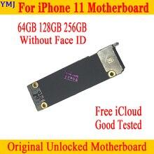 Fonction complète pour iPhone 11 carte mère 64gb 128gb 256gb Original débloqué pour iPhone 11 carte mère logique sans identification de visage