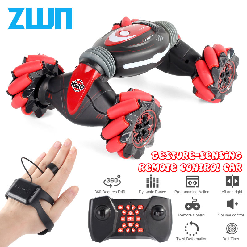 Remote Control Stunt Car Gesture Induction Twisting Off-Road Vehicle Light Music Drift Dancing Side