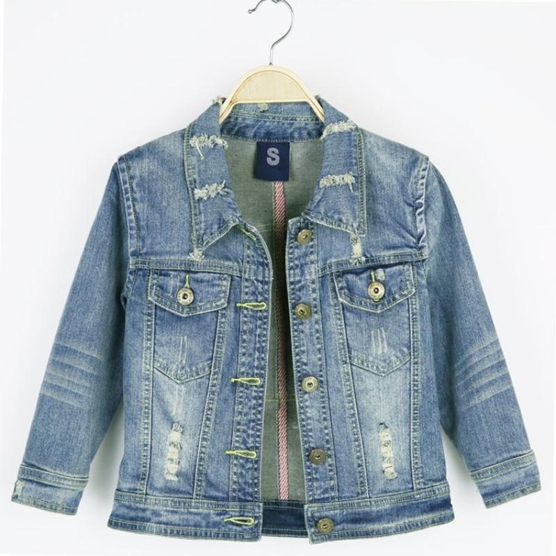 Vintage Half Sleeve Denim Coat Women Boyfriend Style Harajuku Beaded Ripped Jean Jacket Spring Autumn College Jaqueta Feminina