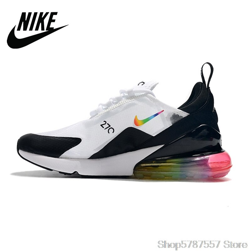 Nike Air Max 270 series сетчатая Женская амортизирующая тканая беговая Обувь белого цвета 36-39