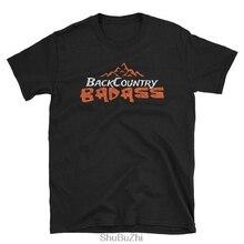 "men cotton tshirts John Muir Backpacker Hiker Tshirt - ""BACKCOUNTRY BADASS."" - Short-Sleeve Unisex T-Shirt euro size"