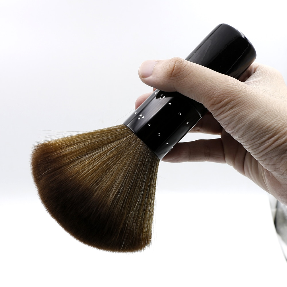 Professional Soft Hairbrush Black Salon Hair Cutting Barber Neck Face Duster Brush Hair Sweep Brush Barber Cleaning Hair Brush