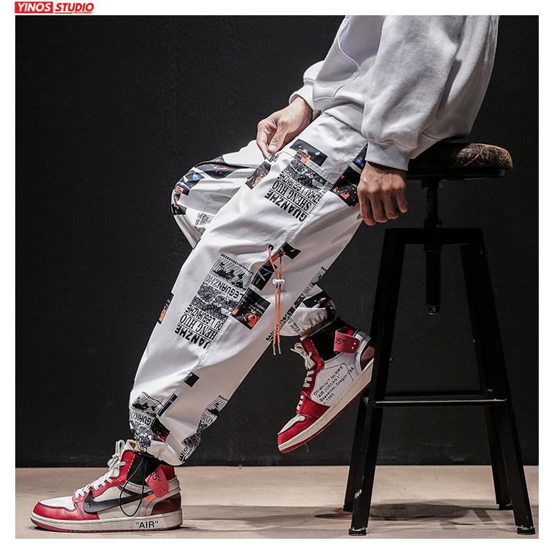 Dropshipping otoño hombres Streetwear casual pantalones para hombres japoneses Hip-Hop sueltos Harem Joggers pantalones de hombre de gran tamaño Toursers deportivos