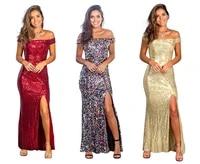 linglewei new spring and summer womens dress single shoulder pure color sequins raglan sleeve street tide dress