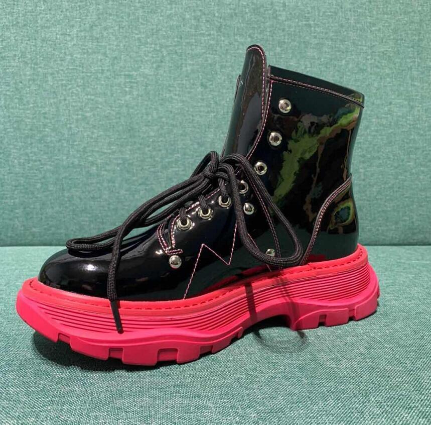 جديد النساء أحذية برقبة السيدات جلدية فاخرة أحذية عالية الكعب فام منصة قصيرة أحذية مصممين الأساسية بوتاس دي موهير