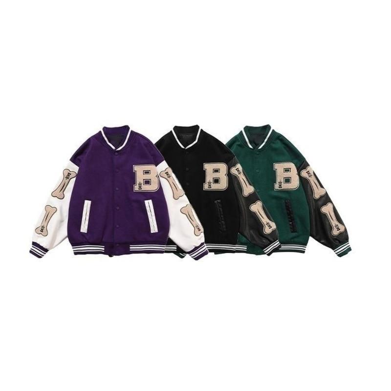 Harajuku Bomber Jackets Women Coat Men's Couple Baseball Jacket 2021 Autumn Uni Boyfriend Style Varsity Hiphop Streetwear