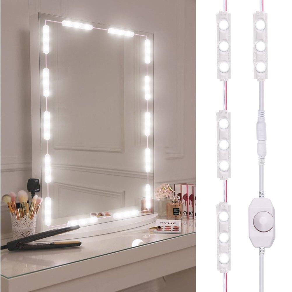 60 PCS LED Mirror Headlights 110V-240V Home Makeup Supply