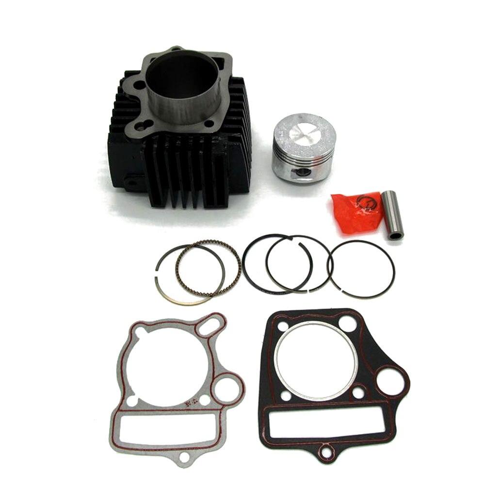 Cuerpo del cilindro de 52mm con junta de cabeza conjunto de pistones para 110cc ATV Quad Dirt Pit