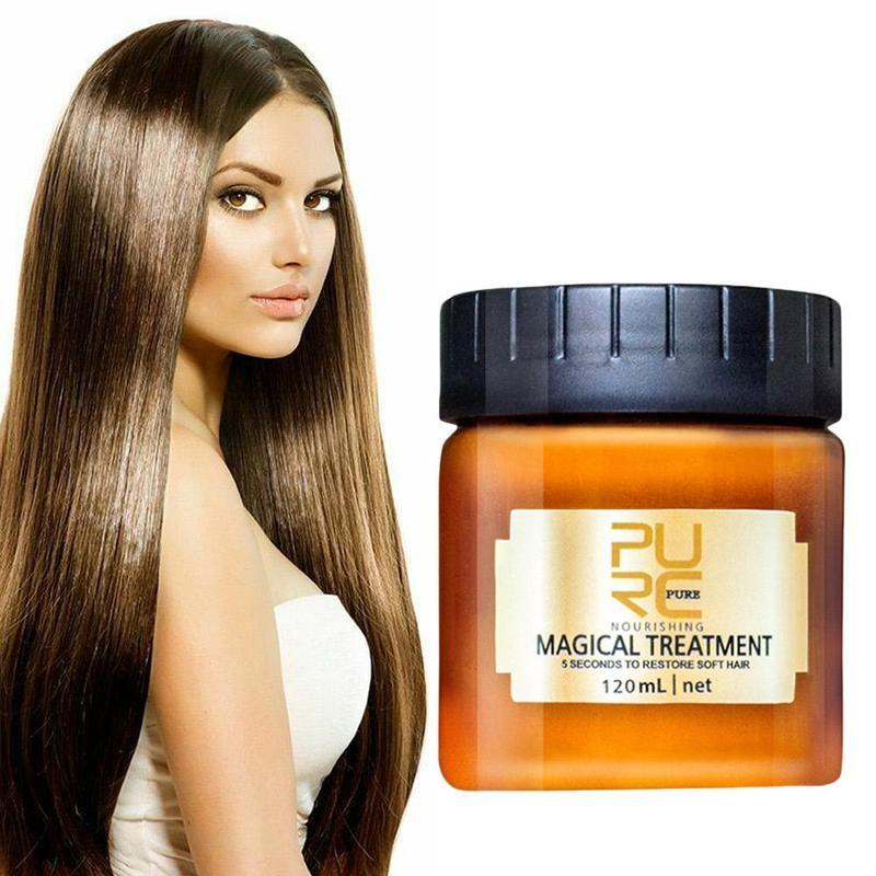 Máscara de cuidados mágicos para 5 segundos reparos danos restaurar o óleo nutritivo do cabelo macio nenhum vapor adequado para todos os tipos
