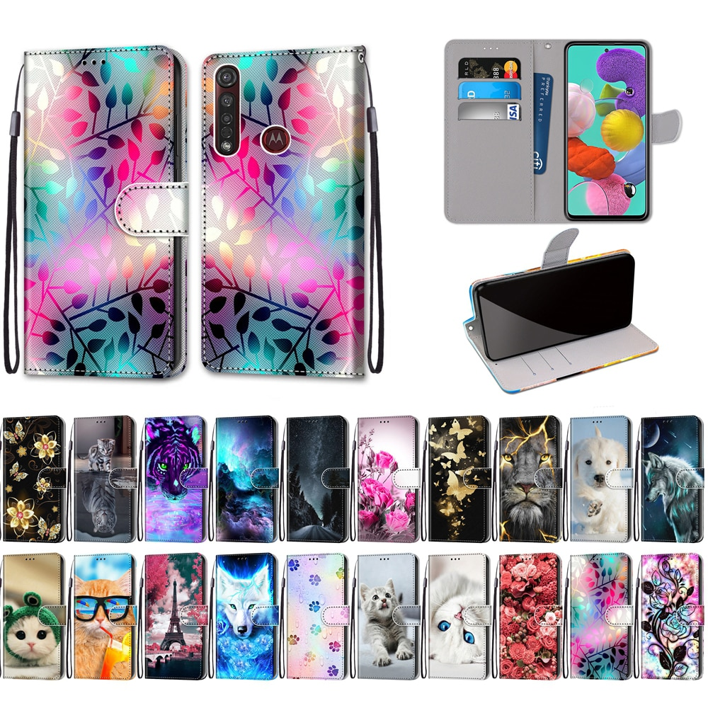P Smart Z Case on for Huawei Y5 Y6 Y7 Y9 Prime 2019 Case 3D Cartoon PU Leather Flip Cover for etui Huawei Y5 Y6 Y7 2018 Hoesje