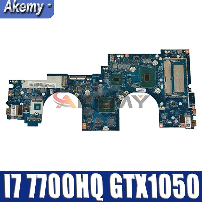Akemy 5B20N67856 لينوفو اليوغا 720-15IKB دفتر اللوحة CIZY5 LA-E552P وحدة المعالجة المركزية I7 7700HQ GPU GTX1050 100% اختبار