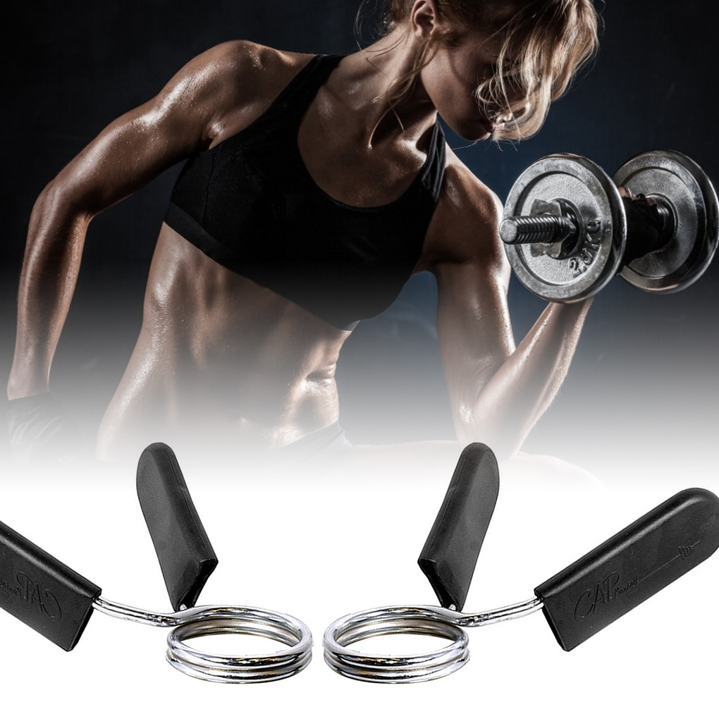 1 Pair 25/28/28 mm Barbell Clamp Spring Collar Clips Gym Weight Dumbbell Lock Standard Lifting Kit