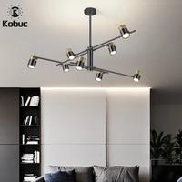 kobuc nordic home light black modern living room pendant light spot light rotatable hanging light fixture for bar bedroom shop