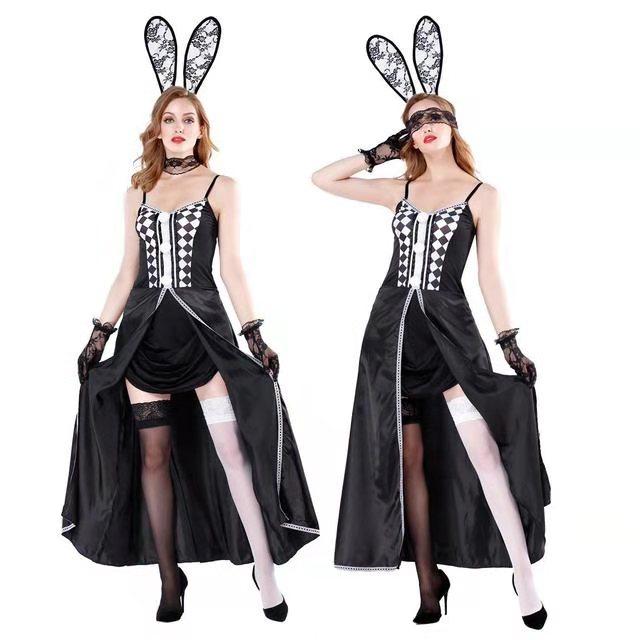Disfraz de conejo para mujer, máscara de conejo, disfraz de conejo Sexy, fiesta de gallina, Halloween, M XL, M8894