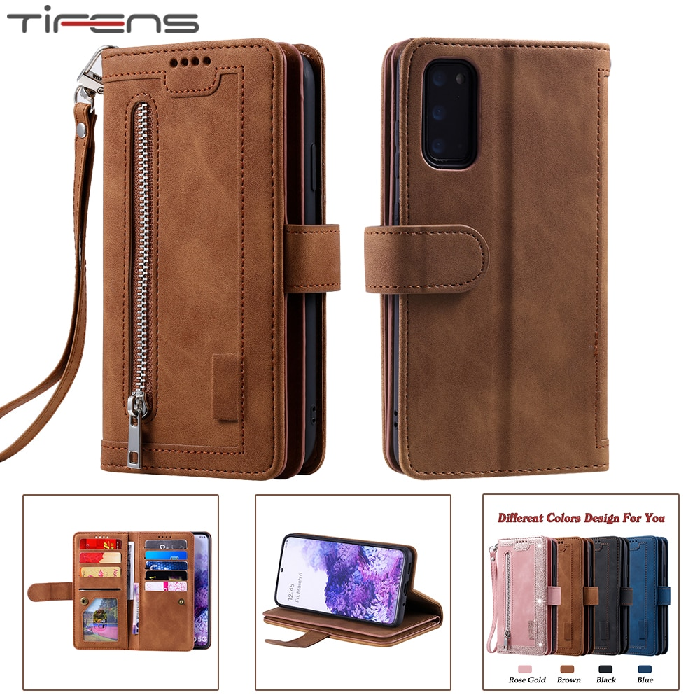 Zipper Wallet A51 A71 A41 Case For Samsung Galaxy S20 FE Ultra S10 E S9 S8 Plus A52 A72 A12 A32 A50 A40 A30 A10 S Leather Cover