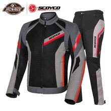 Chaqueta de Moto SCOYCO, chaqueta de Moto para hombre, chaqueta de Motocross reflectante, protección transpirable de verano, armadura corporal