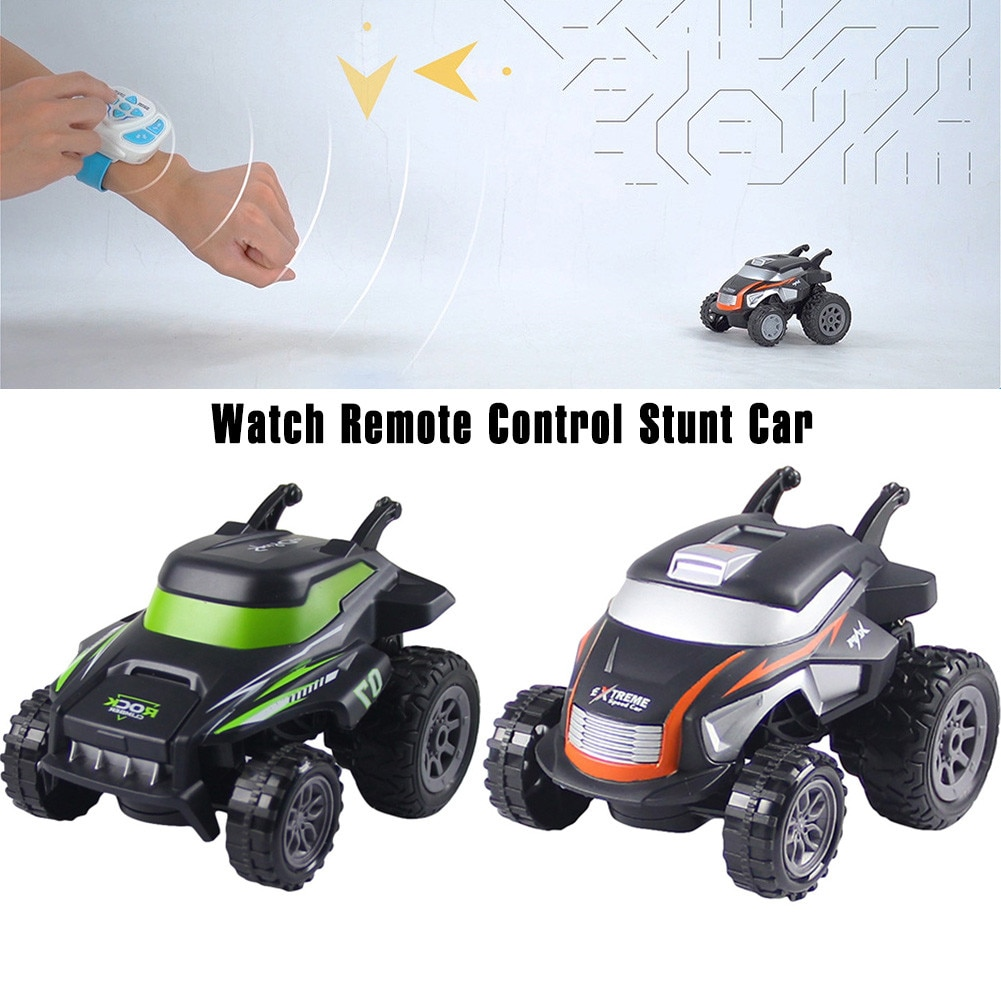 Remote Control Stunt Car Toys Watch Control LED Light Rotation Tumbling Cool Stunt Car Toys For Kids enlarge