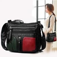 womens bags shoulder bag pu leather straddle double layer single shoulder bags for women messenger bag female bag designer bag