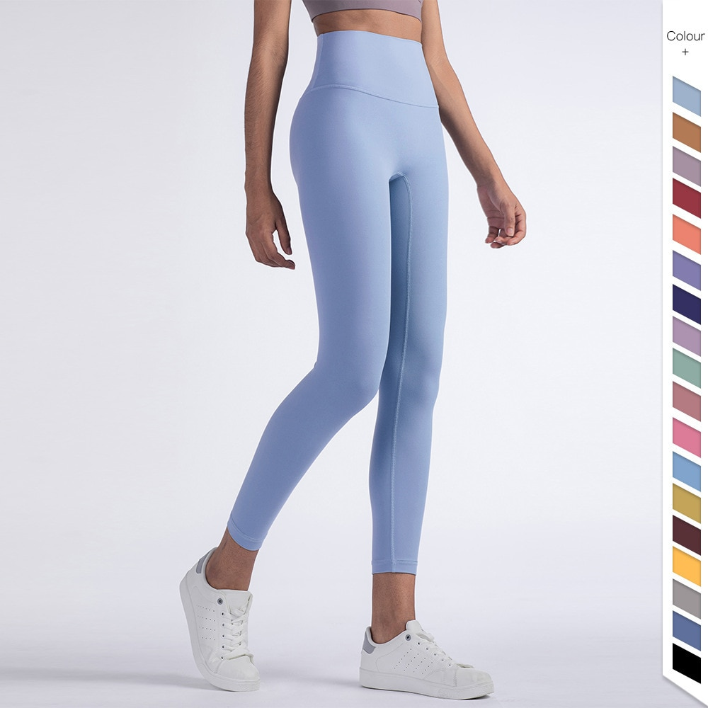 2021 new style yoga pants women's foreign trade fitness pants nine points sports fitness pants quick-drying and breathable