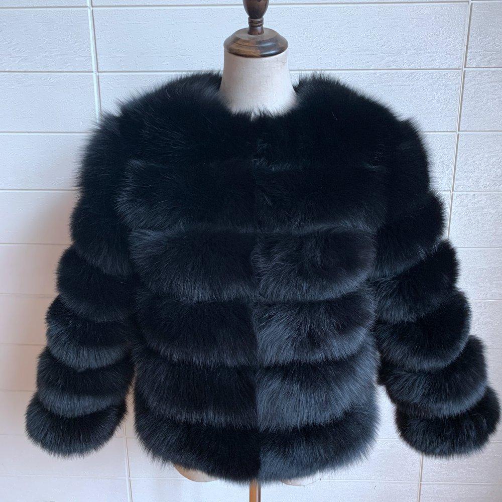 2020 NEW  FREE SHIPPING real fox fur coat women winter thick fur jacket short fur coat wholesale genuine fox short sleeve