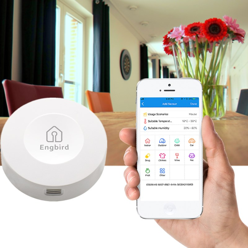 combo bluetooth wireless magnetic monitor smart sensor data logger temperature humidity controller thermostat weather station Weather Station IBS-TH1 Indoor Outdoor Thermometer Hygrometer Sensor Data Logger Digital C/F Temperature Humidity Meter Alarm
