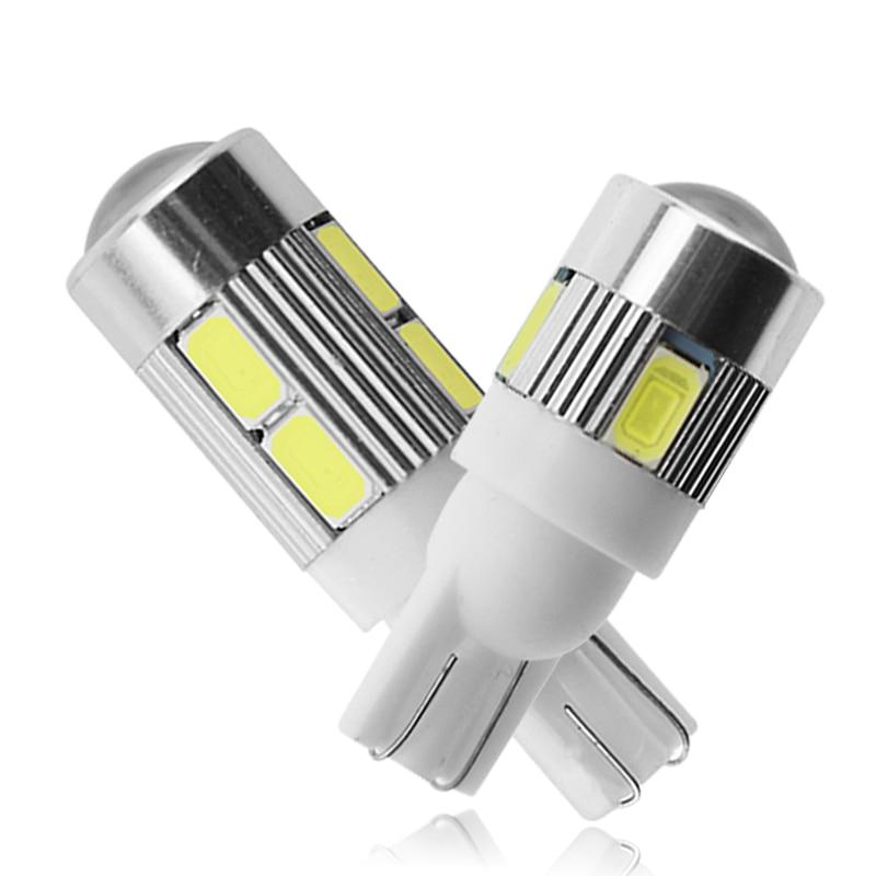 1 piezas T10 bombilla LED 12V blanco 7000K 5630 SMD coche W5W luz LED de señal de la cuña lateral Puerta de luces Interior lámparas de techo