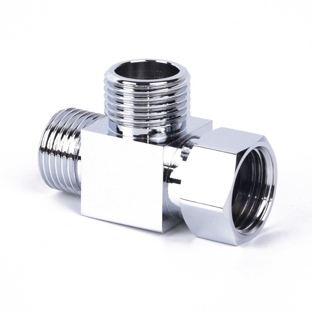 1x g1/2 polegadas 3-way t-adaptador barra mixer chuveiro válvula exposta torneira do chuveiro desviador acessório universal melhoria da casa