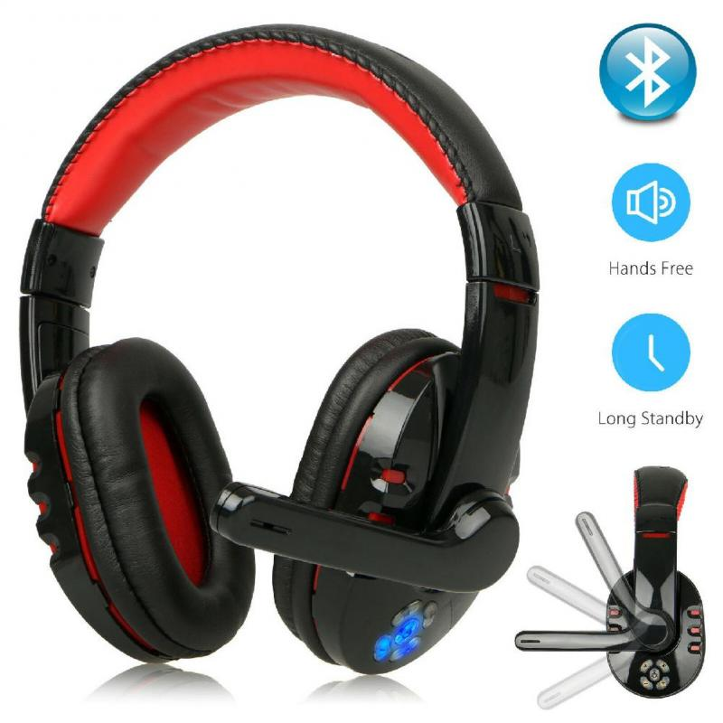 V8 Flexible Wireless Gaming Headphones With Mic Bass Stereo Adjustable Headset For Phone PC Laptop C