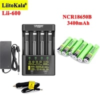 liitokala ncr18650b 3400mah rechargeable batteries with lii 600 battery charger for 3 7v li ion 18650 21700 26650 1 2v aa nimh