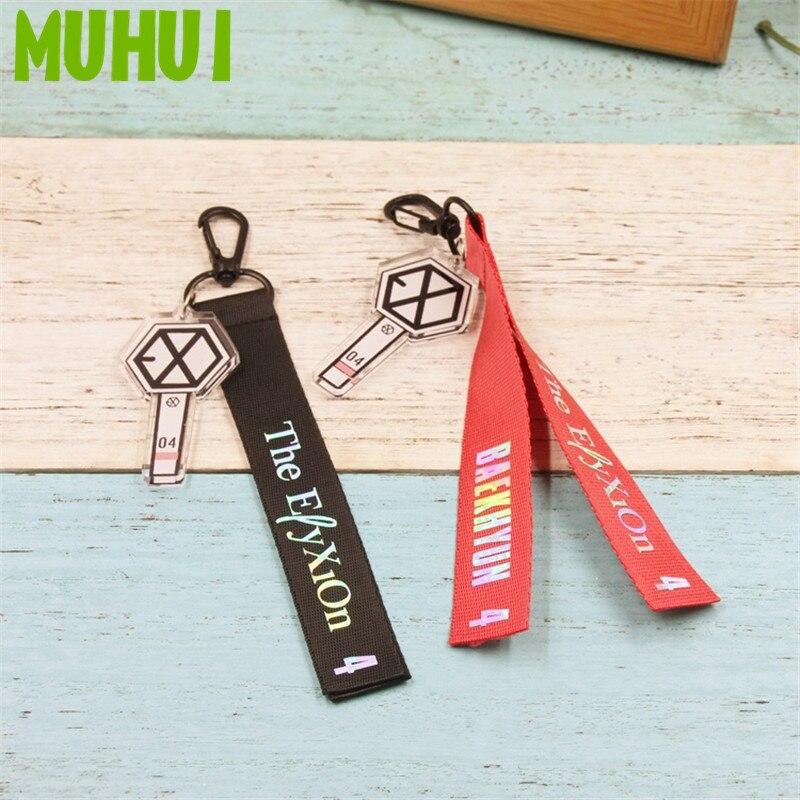 1 pièces 2019 nouveau EXO Concert SEHUN BAEK HYUN KAI nom sac à dos Streamer porte-clés pendentifs porte-clés B096