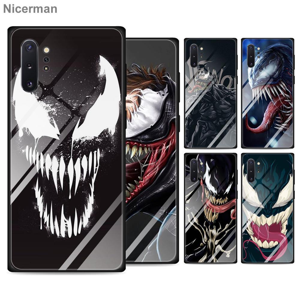 Venom Villain Hulk Tempered Glass Cases for Samsung Galaxy S10 S20 Ultra S8 S9 Plus S10e Note 9 10 Plus A50 A30 Cover Coque