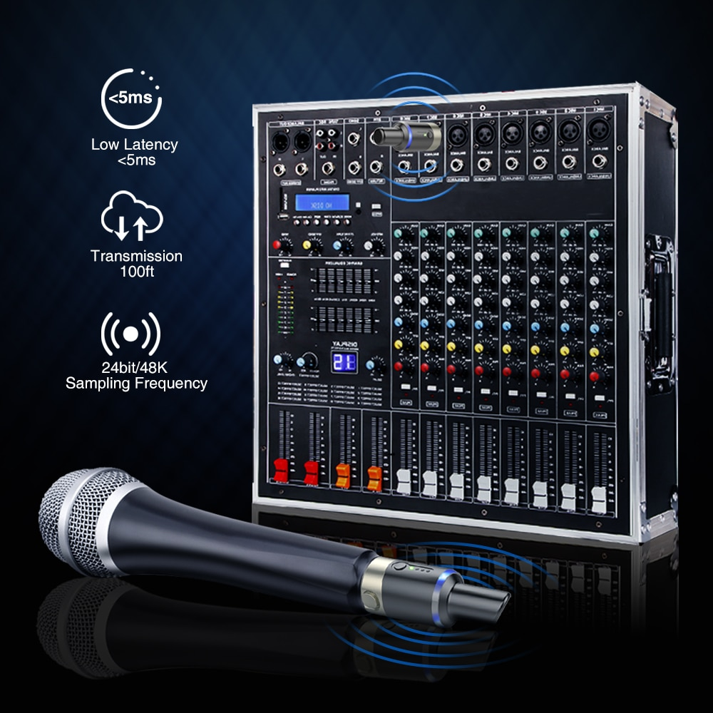LEKATO MW-1 Wireless Technology 5.8GHz Microphone System Transceiver Guitar Transmitter Receiver ON XLR Guitar Accessories enlarge
